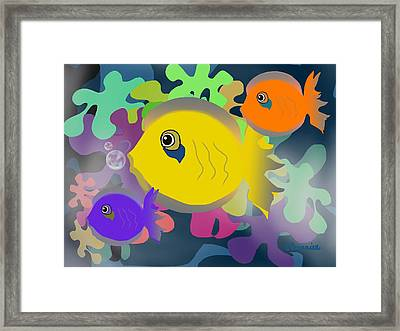 Night Swimming Framed Print
