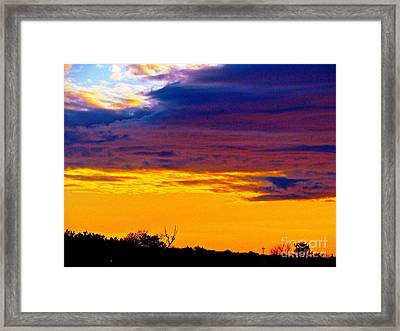 Night Thinks Of Day Framed Print by Q's House of Art ArtandFinePhotography