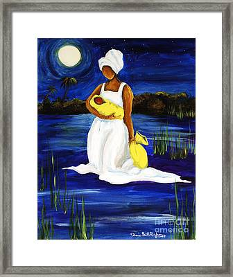 Framed Print featuring the painting Night Tide by Diane Britton Dunham