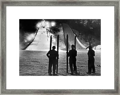 Night Time At The Garmisch Framed Print