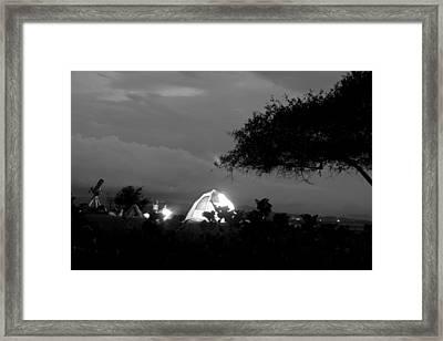 Night Time Camp Site Framed Print by Kantilal Patel