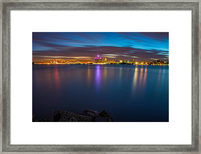 Night Time In The D Framed Print