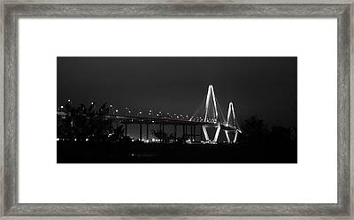 Night Time On The Bridge Framed Print by Andrew Crispi