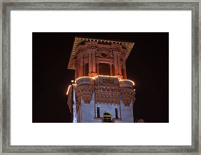 Night Tower Framed Print by Kenneth Albin