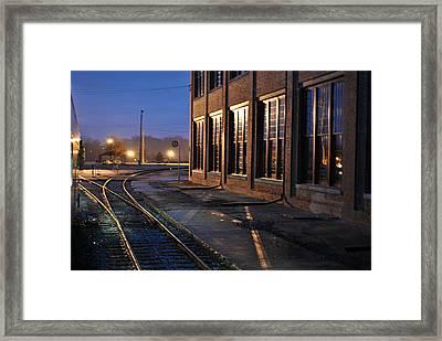 Night Tracks Framed Print by Misty Stach