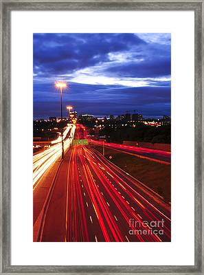 Night Traffic Framed Print