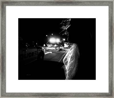 Night Traffic Stop Three Framed Print