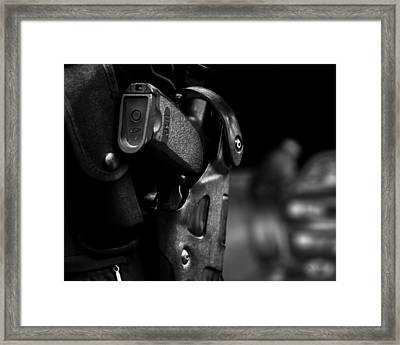 Night Traffic Stop Two Framed Print