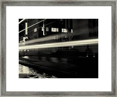 Night Train Black And White Framed Print by Joshua House