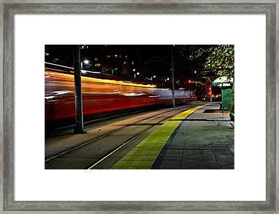 Night Train Framed Print by See My  Photos