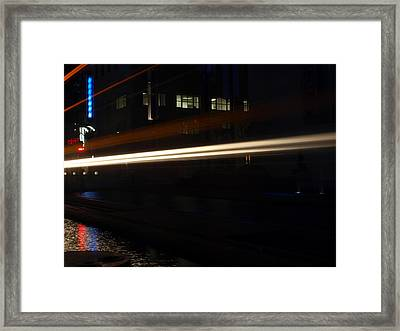 Night Train Framed Print by Joshua House