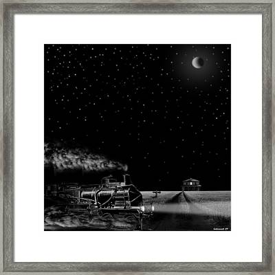 Night Train Framed Print by Larry Butterworth
