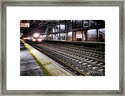 Night Train Framed Print by Olivier Le Queinec