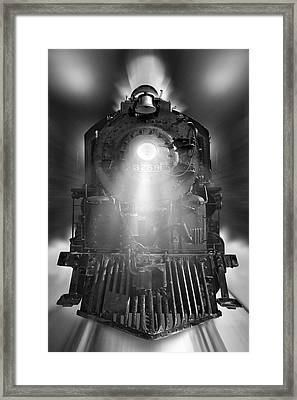Night Train On The Move Framed Print
