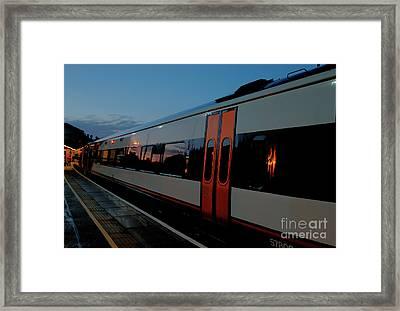 Night Train To London Framed Print by Deborah Smolinske