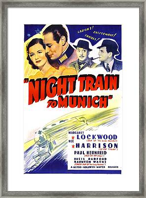 Night Train To Munich, Us Poster, Top Framed Print by Everett