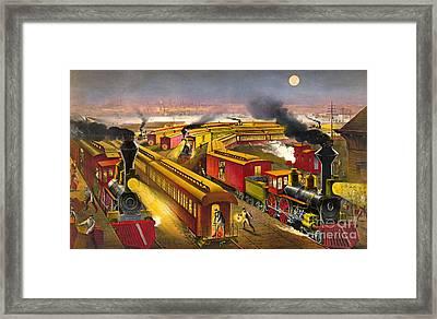 Night Trains 1876 Framed Print