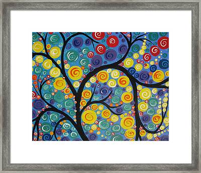 Night Tree Framed Print by Cathy Jacobs