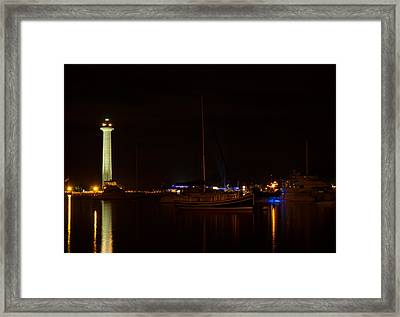 Night View Of Put-in-bay Framed Print