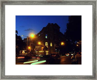 Framed Print featuring the photograph Night View by Salman Ravish
