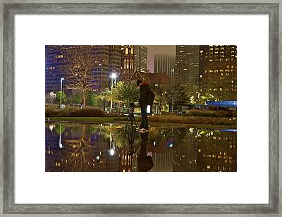 Framed Print featuring the photograph Night Vision by John Babis