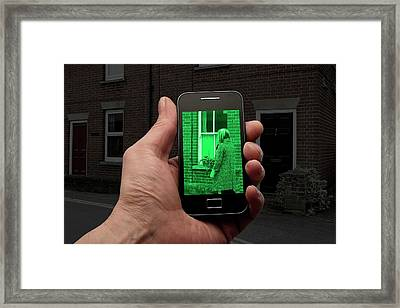 Night Vision Using Mobile Phone Framed Print by Victor De Schwanberg