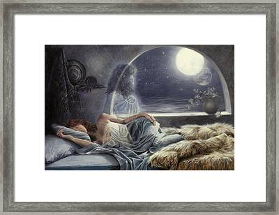 Night Voyage Framed Print by Lucie Bilodeau