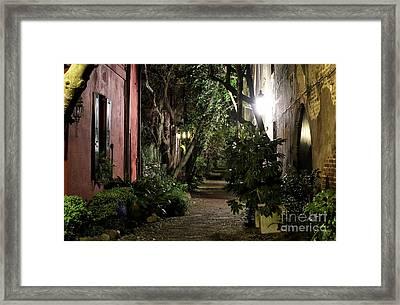 Night Walk In Charleston Framed Print by John Rizzuto