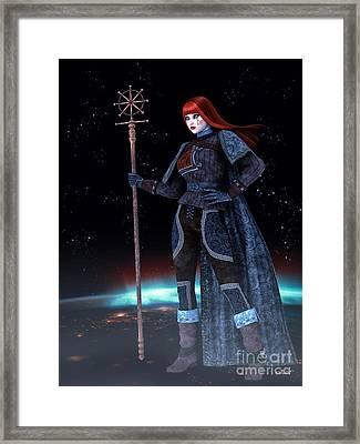 Night Watcher Framed Print by Jutta Maria Pusl