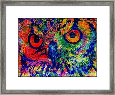 Night Watcher Framed Print by Wendie Busig-Kohn