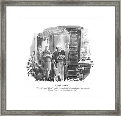 Night Watch  Hey Framed Print by Perry Barlow