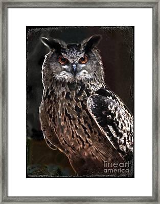 Night Watchman Framed Print by Carol Groenen