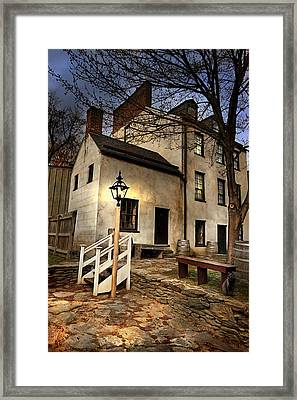 Framed Print featuring the digital art Night Watchman by Mary Almond