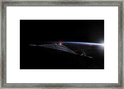 Night Whisper Sr-71 Framed Print by Peter Chilelli