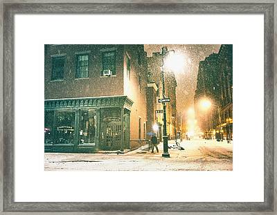 Night - Winter - New York City Framed Print by Vivienne Gucwa