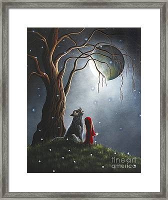 Little Red Riding Hood Art Prints Framed Print by Shawna Erback