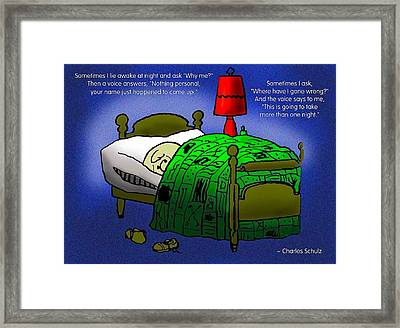 Night Worries Framed Print