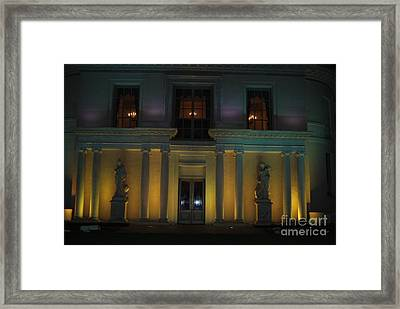 Night Yellow Framed Print