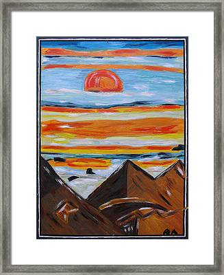 Nightfall Framed Print by Agnes Roman