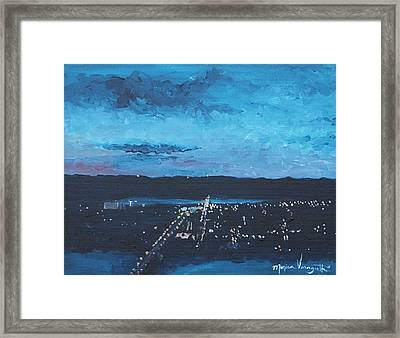 Nightfall At Garvin Framed Print