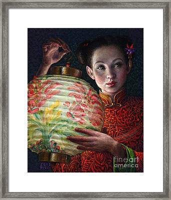 Framed Print featuring the painting Nightingale Girl by Jane Bucci