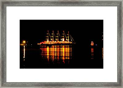 Nightlife On The Water Framed Print