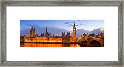 Nightly View - Houses Of Parliament Framed Print