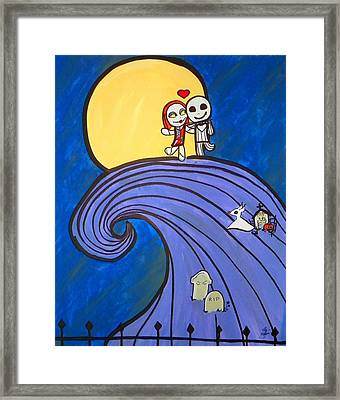 Nightmare Before Christmas Hill Cute Framed Print
