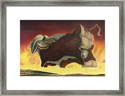 Nightmare Of An Over-inflated Workhorse Framed Print by Mack Galixtar