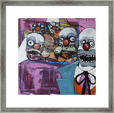 Nightmare Of The Clown Framed Print
