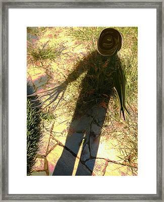Nightmare Shadow Framed Print