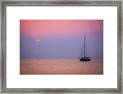 Night's Anchor Framed Print