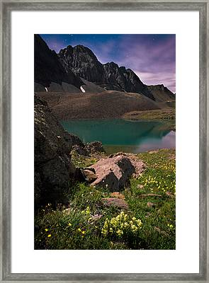 Nightscape Bouquet Of Colors In American Basin Framed Print by Mike Berenson
