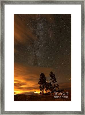 Nighttime Aglow Framed Print by Beve Brown-Clark Photography